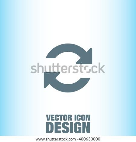 Refresh vector icon - stock vector
