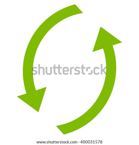 Refresh vector icon. Style is flat icon symbol, eco green color, white background. - stock vector