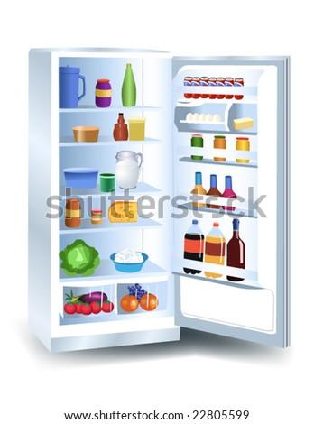 refrigerator - stock vector