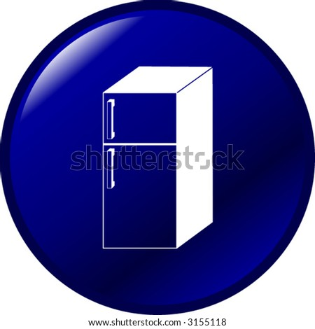 refrigerator button - stock vector