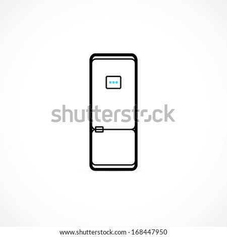 Refrigerator Icon - stock vector