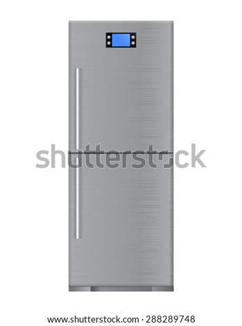 Refrigerator - vector isolated - stock vector