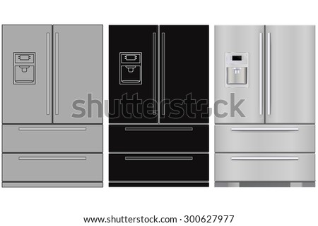 Refrigerator - vector isolated
