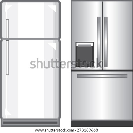 Refrigerators Vectors - stock vector