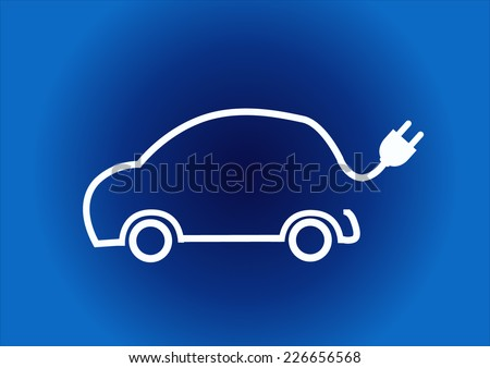 refueling electric car charging battery hybrids - stock vector