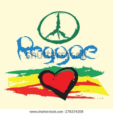 reggae background, vector illustration - stock vector