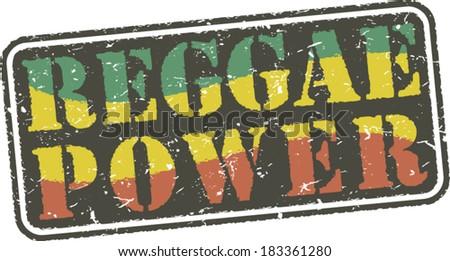 Reggae power.Grunge stamp - stock vector
