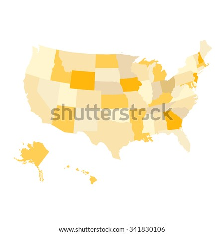 Regions Map United States America Usa Stock Vector - United states regional map