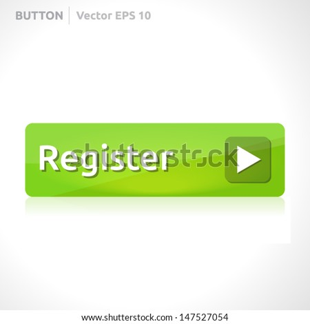 Register button template | vector design eps | business banner with symbol icon | website element | web green - stock vector