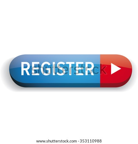 Register button vector blue and red - stock vector