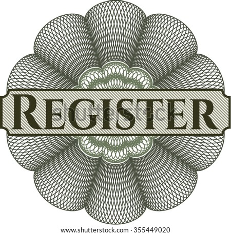 Register rosette - stock vector