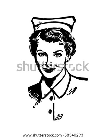 Registered Nurse - Retro Clip Art