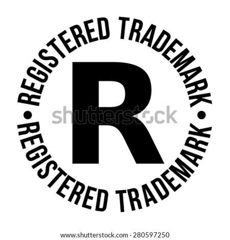 Registered trademark - stock vector