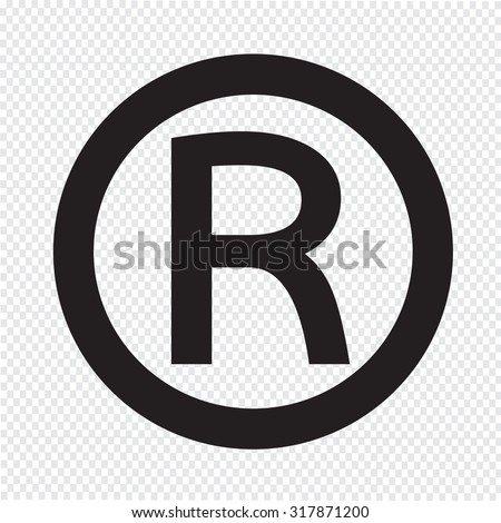 Registered Trademark icon - stock vector