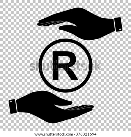 Registered Trademark sign. Flat style icon vector illustration. - stock vector