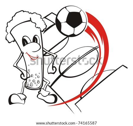 Registration for football equipment of the fans - stock vector