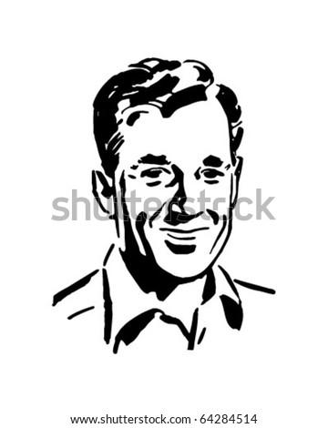 Regular Guy - Retro Clipart Illustration - stock vector