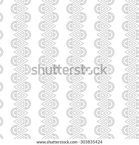 Regular steampunk seamless pattern, grey arrows - stock vector