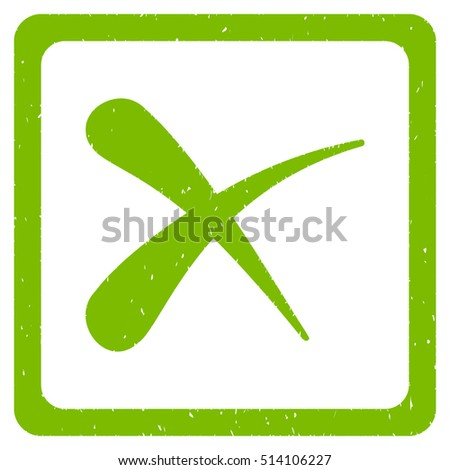 Reject rubber seal stamp watermark. Icon vector symbol with grunge design and dirty texture. Scratched eco green ink emblem on a white background.