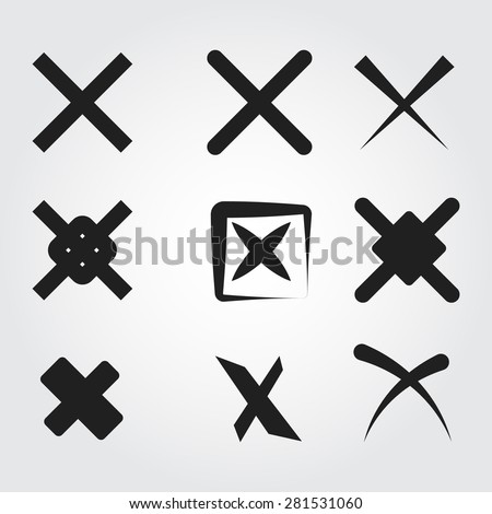 reject vector icons - stock vector