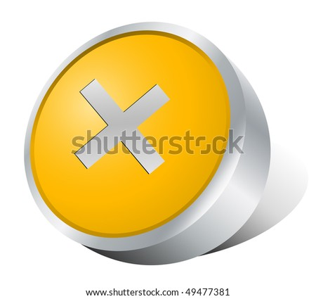 Rejected button.Vector illustration - stock vector