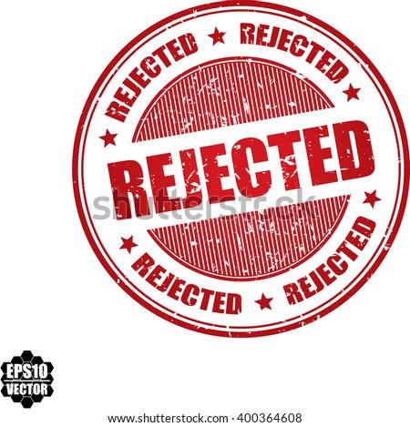 Rejected grunge stamp.Vector - stock vector