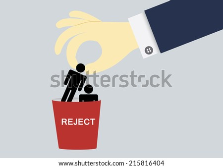 Rejected human - stock vector