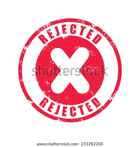 Rejected rubber stamp, vector illustration  - stock vector