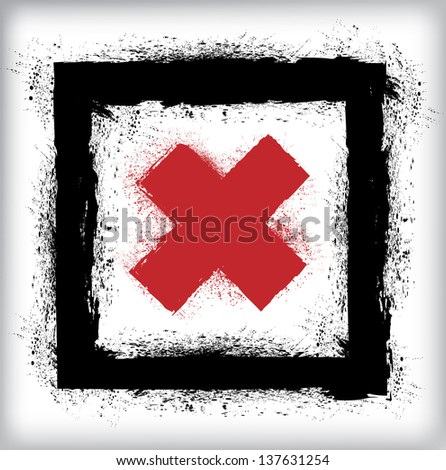 Rejected sign - stock vector