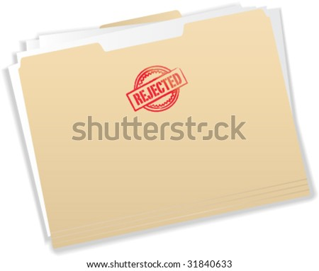 Rejected Stamp on Manila Folder - Vector Illustration