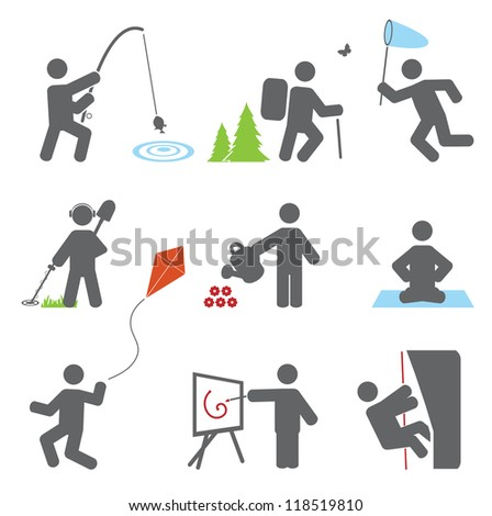Relax icons. Vector set - stock vector