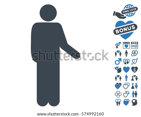 Relax Standing Pose Pictograph Bonus Love Stock Vector 574992160