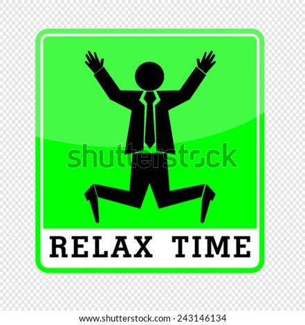 Relax time - stock vector
