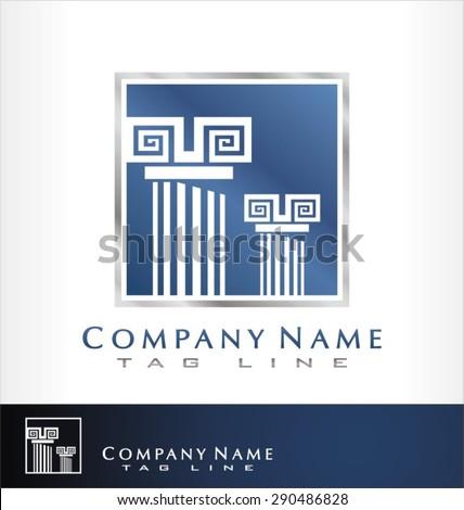 reliable logo vector. columns. - stock vector