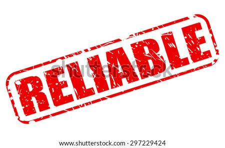 Reliable red stamp text on white - stock vector