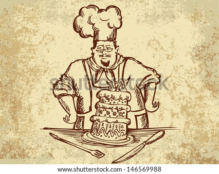 reliant cook with wedding cake
