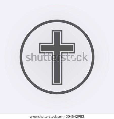 Religion Cross Icon Circle Stock Vector Hd Royalty Free 304542983