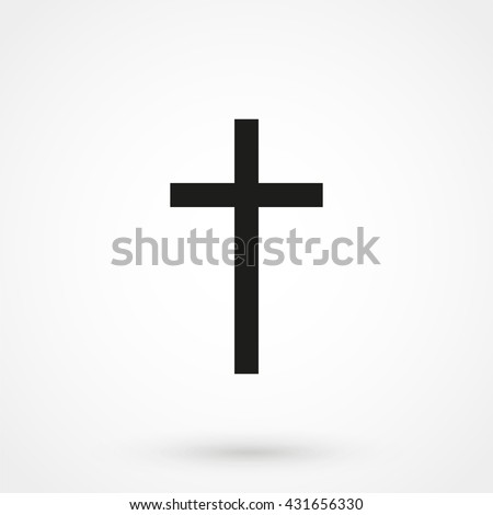 Religion Cross Icon isolated on background. Modern flat pictogram, business, marketing, internet concept. Trendy Simple vector symbol for web site design or button to mobile app. Logo illustration - stock vector