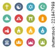 Religion Icons Iconset - stock vector