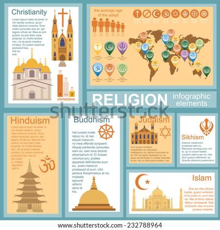 Religion infographics. Vector illustration - stock vector