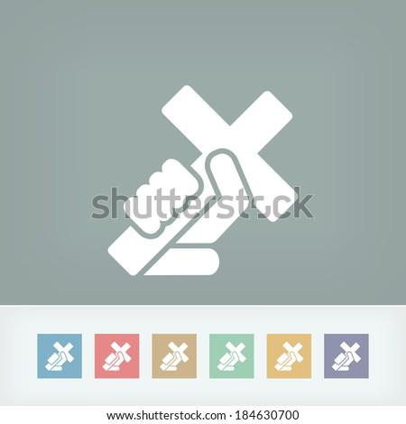 Religious cross - stock vector