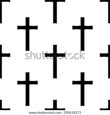 Religious cross seamless pattern. Vector illustration. Eps 10