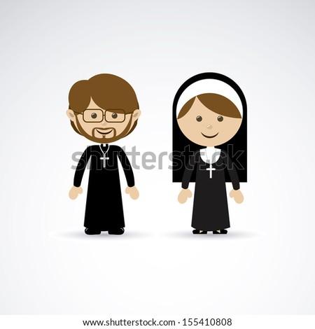 religious design over gray background vector illustration - stock vector
