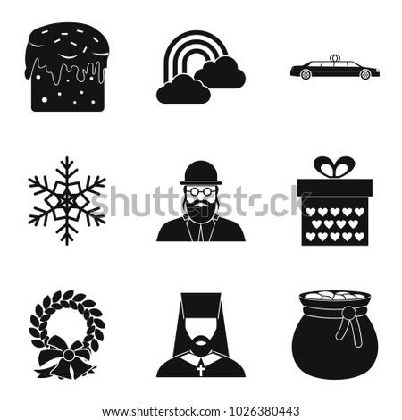 Religious Symbolism Icons Set Simple Set Stock Vector 1026380443