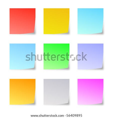 Reminder notes isolated on white background. Vector.