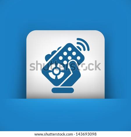 Remote control concept icon - stock vector