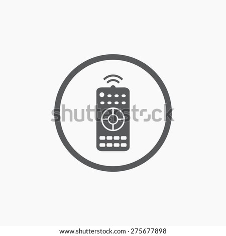 Remote control panel simple flat icon isolated - stock vector