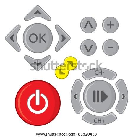 Remote control set - stock vector
