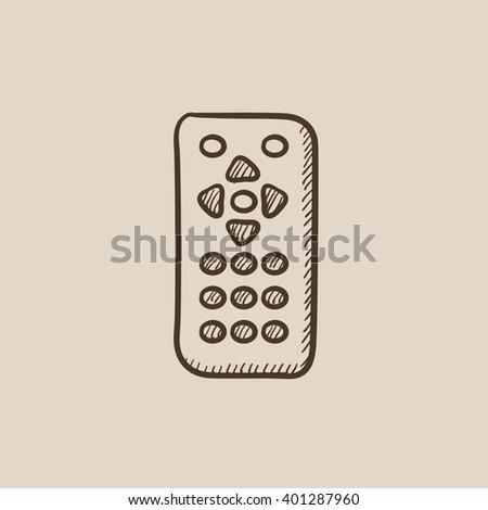 Remote control sketch icon. - stock vector