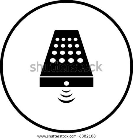 remote control symbol - stock vector